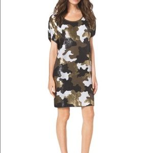 Michael Kors Sequin Camouflage Dress | XXS